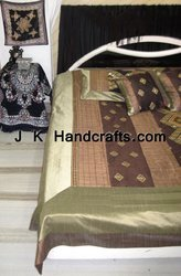 Beautiful Mirror Work Ethnic Bed Sheet
