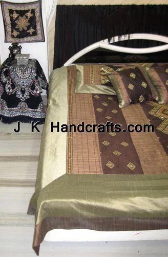 Beautiful Mirror Work Ethnic Bed Sheet