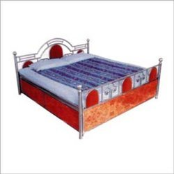 Ramdev Metal Polished Stainless Steel Beds, Double Bed