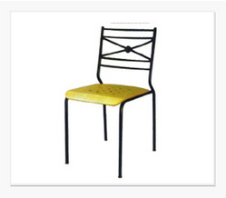 Metal Black Designer Cafeteria Chair, Thickness: 25 mm