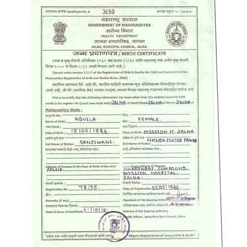 Birth Certificate Apostille Consultancy Services In