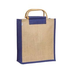 Jute Bag with Cane Handle