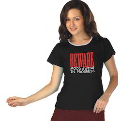 Ladies Lycra Cotton Printed T-Shirts
