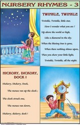 Twinkle Twinkle Little Star & Hickory Dickory Dock For  Nursery Rhymes Chart