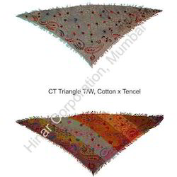 Cotton Triangle Shawl
