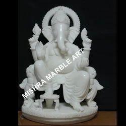 Ganesha on Singhasan Statue
