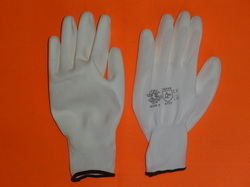 White PU Coated Hand Gloves