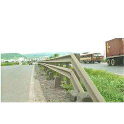 Single Sided Double Beam Crash Barrier