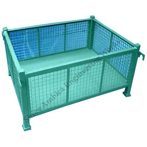 Mettle Pallet with Wire Net Box - Shree Ambica Engineering Works