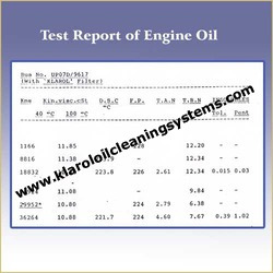 Test Report Of Engine Oil