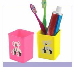 Plastic Multicolor Tooth Brush Holder, Size: Medium