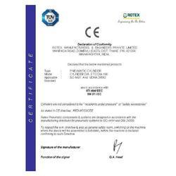 CE Certificate for Pneumatic Cylinder