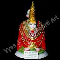 DU-0034 Durga Maa Marble Statues