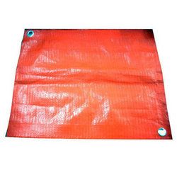 Red Plain HDPE Laminated Fabric