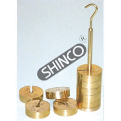 Slotted Weight Set Brass With Hanger