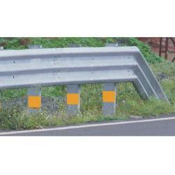 Single Sided Double Beam Metal Crash Barrier