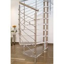Ss Handrail Stainless Steel Glass Spiral Staircase