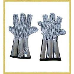 Chain Mail Gloves With Strips