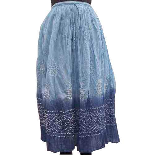 Cotton Skirts Tie Dye Skirt Manufacturer From Jaipur
