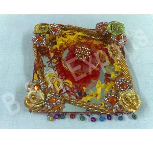Indian Wedding Tray Decoration: Engagement Ring Trays Exporter From Vadodara