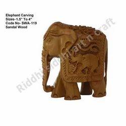 Sandalwood Elephant Carving