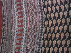 Bagru Hast Kala Printers Formal Wear Bagru Printed Cotton Sarees, 5.2 M (separate Blouse Piece), With Blouse Piece