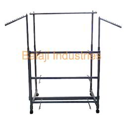 Mild Steel Cloth Display Trolleys