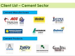 Client List (Cement Sector)