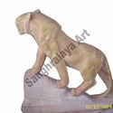 Yellow Stone Climbing Tiger Statue