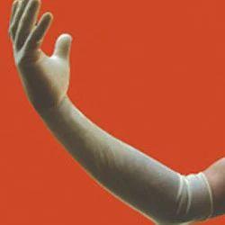 White Powder Free Long Surgical Gloves