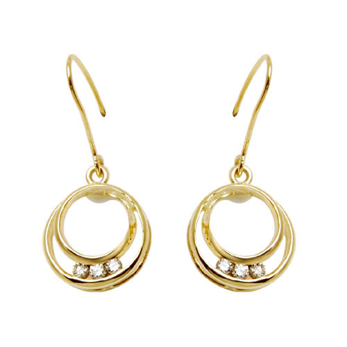 Hoops Earrings Jewelery In Gold at Rs piece