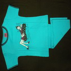 Poly Cotton Printed Pimkin Children Pajamas Sets