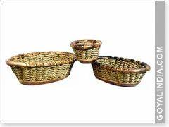 Wooden Weaking Basket Set