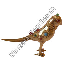 Brass Lekar Stone Parrot