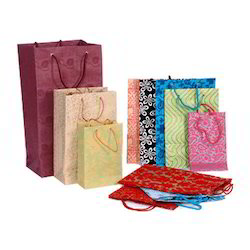 Multicoloured Printed Handmade Paper Bags