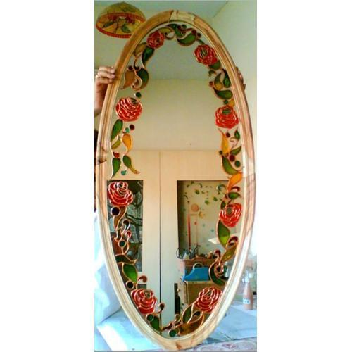 Stained Gl Mirrors Oval Shaped