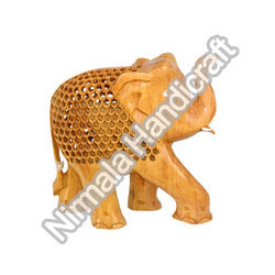 Wooden Carving Elephant Statues