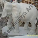 Grey Stone Elephant Statue