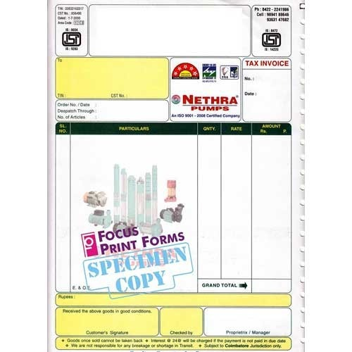 invoice bills - invoice forms manufacturer from coimbatore, Invoice examples