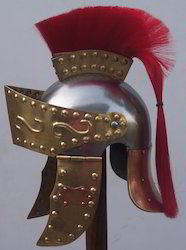 Greek Helmet With Crest