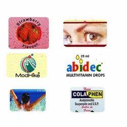 Medicine Stickers, Packaging Type: Packert