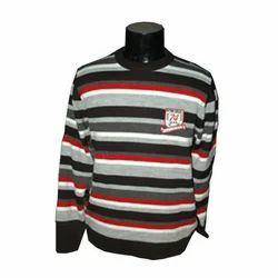 Men's Pullover (red-black-grey strips)