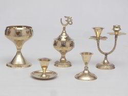 ASHA Brass Pooja Accessories, For Worship, Packaging Type: Box Packing