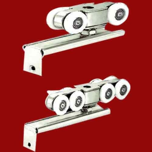 furniture pin metal roller silver doors tone uxcell wheel sliding closet rollers set for door
