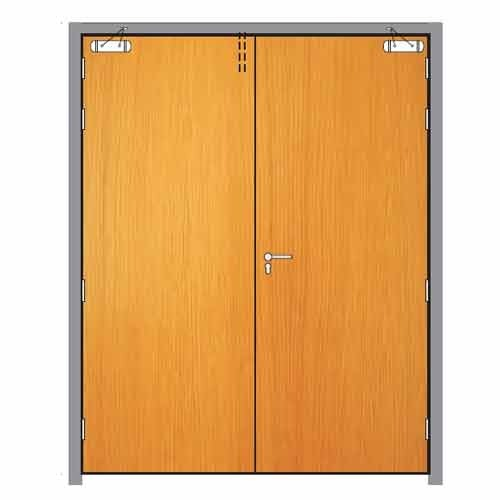 Wooden Double Fire Door at Rs 3000 /square feet(s) | Loni ...