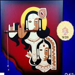 Wooden Radha Krishna Art
