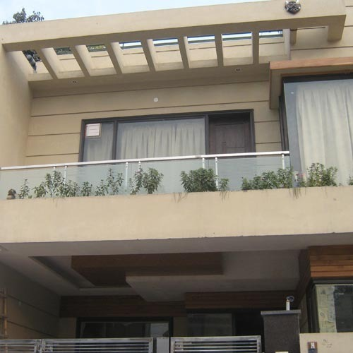Front Elevation Glass Design : Stainless steel glass railings vashisht decorator