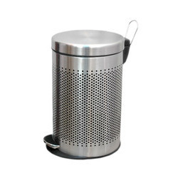 Stainless Steel Perforated Pedal Bins