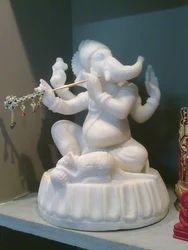 GA-4064 White Ganesh Statue