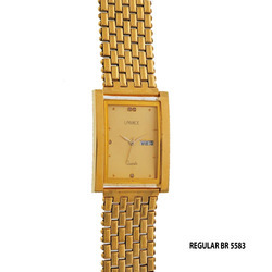 Men's Regular Golden Chain Watch